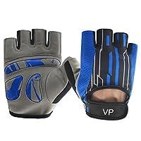 Vegas Pro、トレーニング、フィットネス、クロスフィット、アスリート、アスレチック、ウェイトリフティング、ラケットボールと運動手袋Designed for Men and Women ブルー