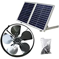 ECO-WORTHY 独立型 発電ソーラーパネル 換気扇 排気扇 30W L07FP30-SV25