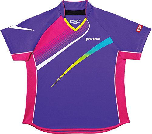VICTAS(ヴィクタス) レディース 卓球 ゲームシャツ V-LS029 031457 パープル(0360) XXO