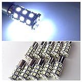 24V用 LED S25 BAY15Dダブル球 27連 10個セット テールランプ ブレーキランプ (ホワイト)
