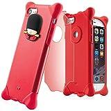 a06c7448a6 位, BoneCollection イギリス 近衛兵 Phone Bubble 7/8 スマホケース ストラップ付き シリコン素材 2層式カバー  (レッド)