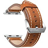 AMERTEER Apple Watch Series 2 / 1 対応バンド アップルウォッチ バンド 本革 交換ベルト(ブラウン 38mm)
