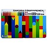 サクラクレパス 色鉛筆 クーピー 24色 缶ケース入り FY24