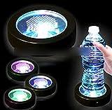 ZooooM 光る カラフル LED コースター ライト アップ イルミネーション インテリア 台座 ZM-LC1391