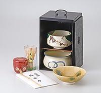 茶道具(茶箱) 黒塗茶の湯揃