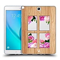 Head Case Designs ウィンドウ ウッド & フローラル ソフトジェルケース Samsung Galaxy Tab A 9.7