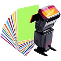 Baosity スピードライト対応 (12枚入り12色)カラーフィルター フィルターホルダー 多機能 実用的