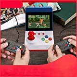 Tichan ミニアーケード ゲーム 3.0 インチ コンソール クラシック ハンドヘルド ビデオゲーム 2コントローラ付き A6 ミニレトロ ゲームアーケード ダブルハンドル (ブルー)
