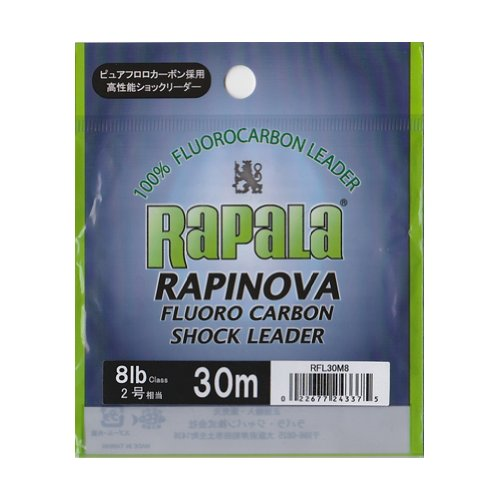ラパラ(Rapala) ショックリーダー ラピノヴァ フロロカーボン 30m 2.0号 8lb クリア RFL30M8