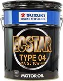 SUZUKI ( スズキ ) 二輪車用エンジンオイル ECSTAR TYPE04 [ エクスタータイプ04 ] 10W-40 [ MA ] [ 20L ]