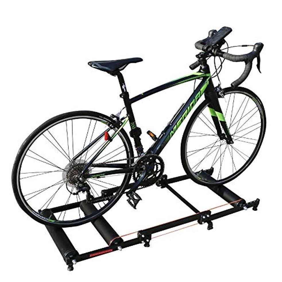 芸術視力イライラする折り畳み式 三本ローラー台 サイクルトレーナー 屋内?室内トレーニング 自転車 Omixオリジナルマルチバンド付属