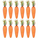 PRETYZOOM フォームキャロット グリッターバニー キャロット 本物そっくり 野菜 写真ブース小道具 ホームキッチンキャビネット装飾用 [20個]
