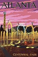 アトランタ、ジョージア–Centennial公園 24 x 36 Giclee Print LANT-47069-24x36