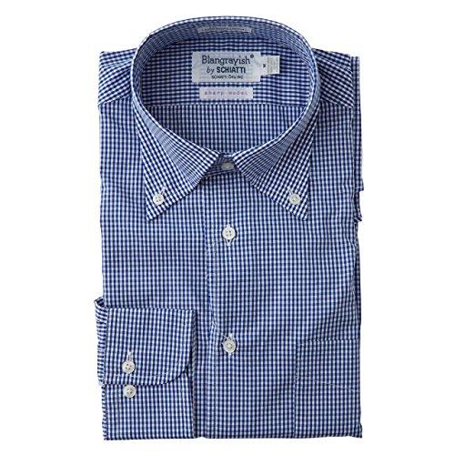 SCHIATTI(スキャッティ)Blangrayish  ボタンダウン ドレスシャツ WH/BL col28  (LL)