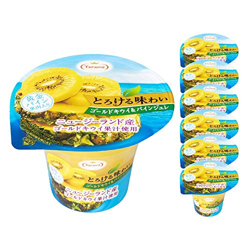 たらみ とろける味わい ゴールドキウイ&パインジュレ 6箱セット 210g × 各6個(計36個)