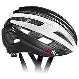 rh+(アールエイチプラス) ヘルメット Z-Epsilon [ゼット・イプシロン] マットブラック/シャイニーホワイト/マットブラック XS/M (54-58) ヘルメット 240g JCF公認 EHX6074 10