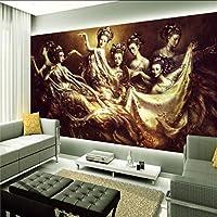 Lixiaoer 写真の壁紙中国風の美しいフレスコ画のリビングルームバーの壁紙カスタムテレビのソファの背景壁の壁画-150X120Cm