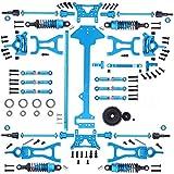 1/18 WLtoys A959-B A969-B A979-B K929-B電気RCカーオフロードバギーメタル交換用1セット完全アップグレードパーツキット