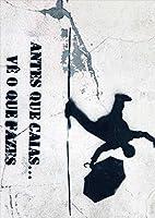 igsticker ポスター ウォールステッカー シール式ステッカー 飾り 420×594㎜ A2 写真 フォト 壁 インテリア おしゃれ 剥がせる wall sticker poster 008216 ユニーク 影 イラスト 黒 ブラック