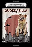 Composition Notebook: Funny Quokka | Giant Australia Monster, Journal 6 x 9, 100 Page Blank Lined Paperback Journal/Notebook