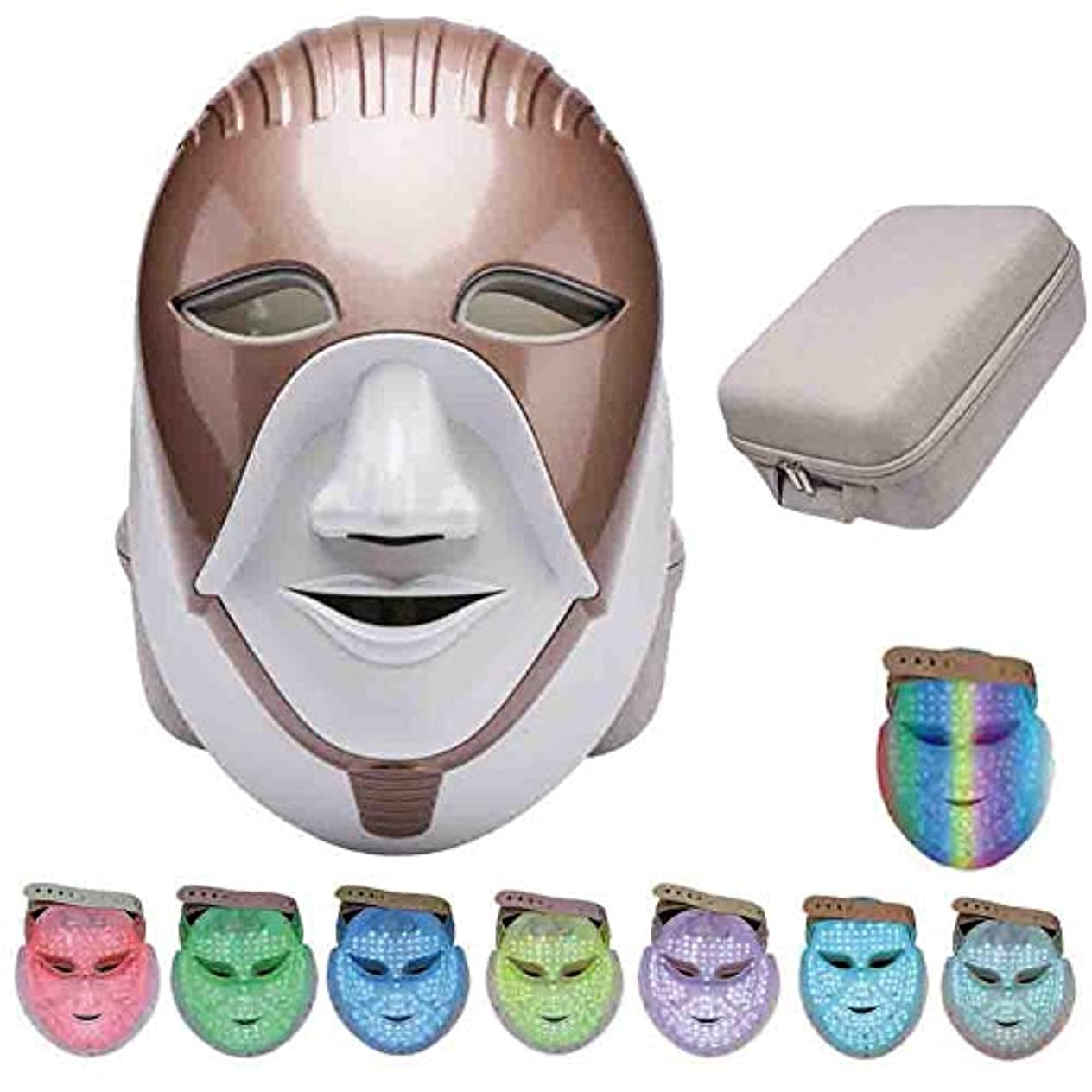 紳士彼は郊外ライトセラピーは、アンチエイジング肌の若返りフェイシャル?スキンケアマスクホワイトニング美容LED 7色光子しわ除去マスク