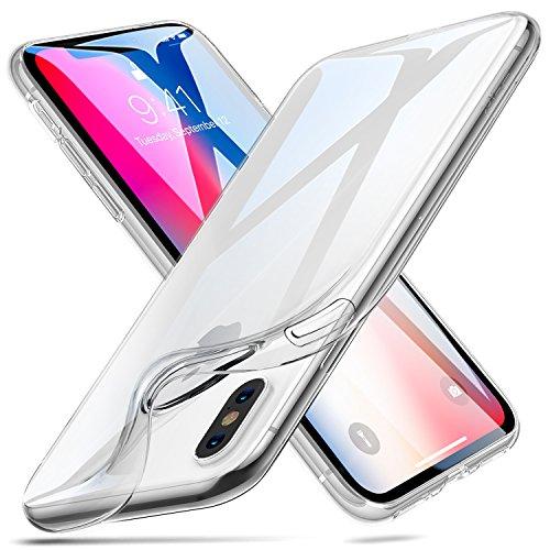iPhone X ケース クリア ESR iPhone X ソフトカバー 透明TPU [ガラス面へのスクラッチ防止][落下防止][黄変防止][薄型 軽量][QI充電対応] iPhone X 専用カバー(iPhoneX,クリア)