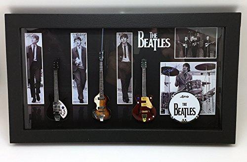 [해외][Musical Story] 미니 기타 탁상 액자 액자 세트 BEATLES 비틀즈 유형 2/[Musical Story] miniature guitar desk top frame framing set BEATLES Beatles type 2