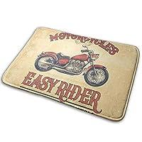 オートバイ 玄関マット 泥落としマット 屋内屋外兼用 キッチンマット おしゃれ 滑り止め40×60cm