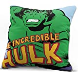 Jay Franco Marvel Avengers Incredible Decorative Pillow Cover - Kids Super Soft 1-Pack Throw Pillow Cover Features Hulk - Measures 15 Inches x 15 Inches (Official Marvel Product)