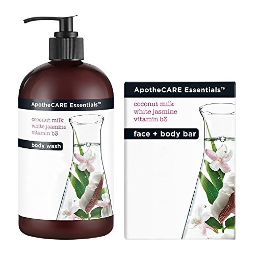 テクニカル構造増強Body Wash and Bar Soap, Coconut Milk, White Jasmine, Vitamin B3, 16 oz 473 ml