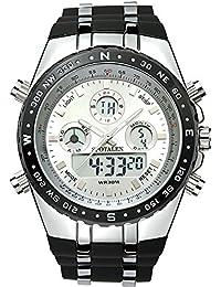 STOPALEN腕時計 メンズ スポーツ アナデジ ストップウォッチ カレンダ ファッション カジュアル クォーツ腕時計ー 登山ST008