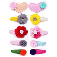 Belle Beau Baby Girls Stylish Hair Bows, Snap Clips Value Set, For Kids Toddlers Girls