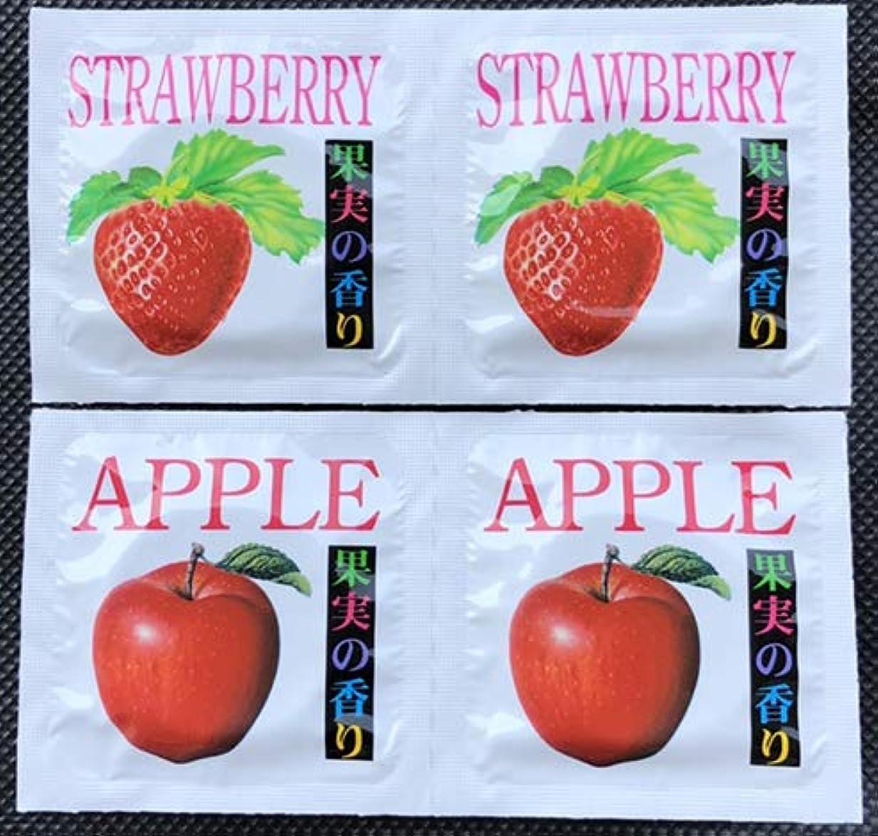 果実の香り スキン 避妊具 2種アソート 24個セット(アップル12個&ストロベリー12個) メール便
