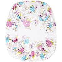 ZHIYUAN カラフルな花のベージュのベッドシートと2つの枕カバーをセット,セミダブル