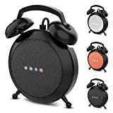Google Home Mini Stand Holder, Retro Alarm Clock Stand Mount Base Protective Case Compatible with Google Home Mini and Nest Mini(Black)