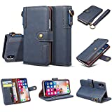 iPhone X ケース Alfort 高級の牛革 ケース iPhone X カバー 手帳型 良質レザー 擦り傷防止 全面保護 スタンド機能 財布型