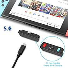 FREE Bluetooth 5.0 aptX Low Latency Transmitter Adapter for Nintendo Switch & Switch Lite, PD Fast Charging with Dual Audio Streaming, Compatible with Airpods,Beats,Bose,Sony