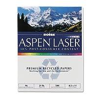 アスペンプレミアムレーザー用紙、96明るい、24lb、8–1/ 2x 11、ホワイト、500枚/リーム、1として販売Ream 1-Pack