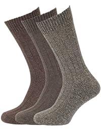 メンズ ウールブレンド クッションソール ソックスセット 靴下セット (3足組) 男性用