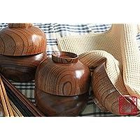 木のお椀 木製布袋汁椀 5客セット