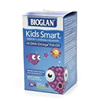 BioGlan Kids Smart Hi DHA Omega-3 Fish Oil, Chewable Burstlets, Berry--30 ea-Product ID DRU-318828_1 by bioglan [並行輸入品]