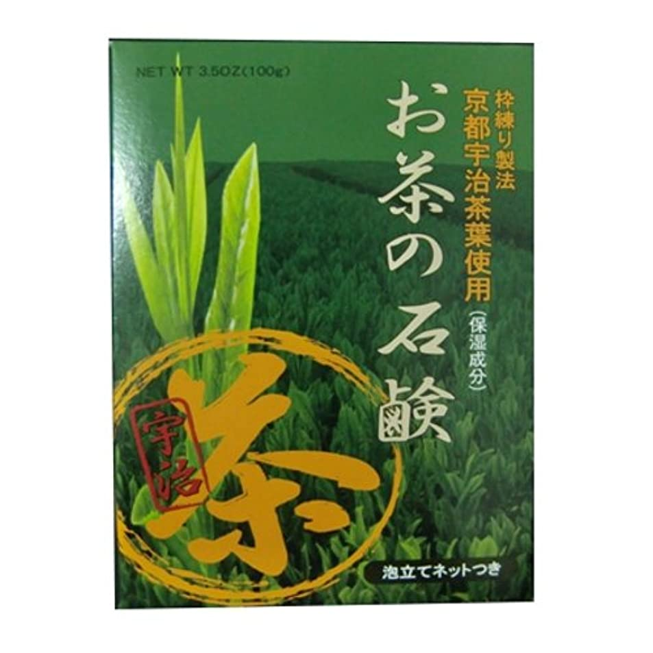 変更詳細なエネルギーお茶の石鹸 ハーバルグリーンソープ 100g