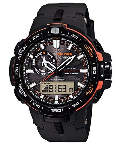 カシオ 腕時計 プロトレック ブラック×オレンジ メンズ