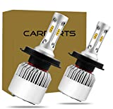 1年間保証!CARPARTSJP®LED ヘッドライト 防水 ledフォグランプ 16000lm cspチップ led ヘッドライト 12V/24V LEDライトH1 H3 H4 H11 H8 H16 HB3 HB4 HIR2 2個セット (H4 HI/LO)