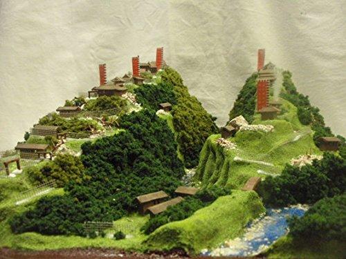 戦国の城・武田信玄の城 要害山城・熊城  お城 模型 ジオラマ完成品 450mmサイズ