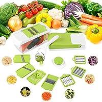 FIXKITフルーツ交換野菜マンドリンスライサーチョッパー(8枚交換可能)