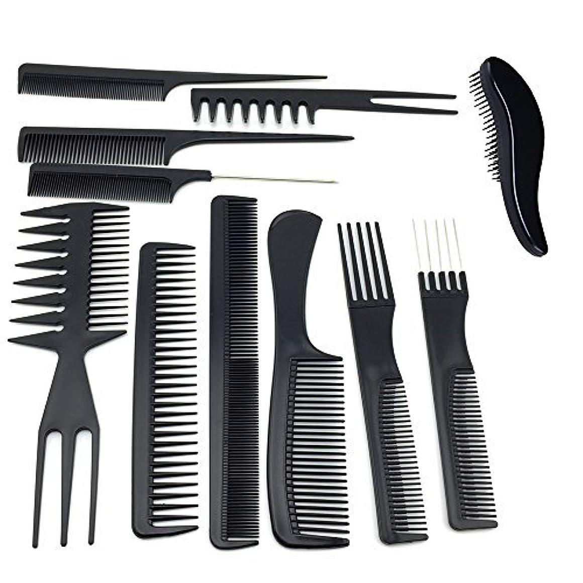 囲まれたフック寝具TraderPlus 11PCS Hair Stylists Professional Styling Comb Set Variety Pack for All Hair Types [並行輸入品]