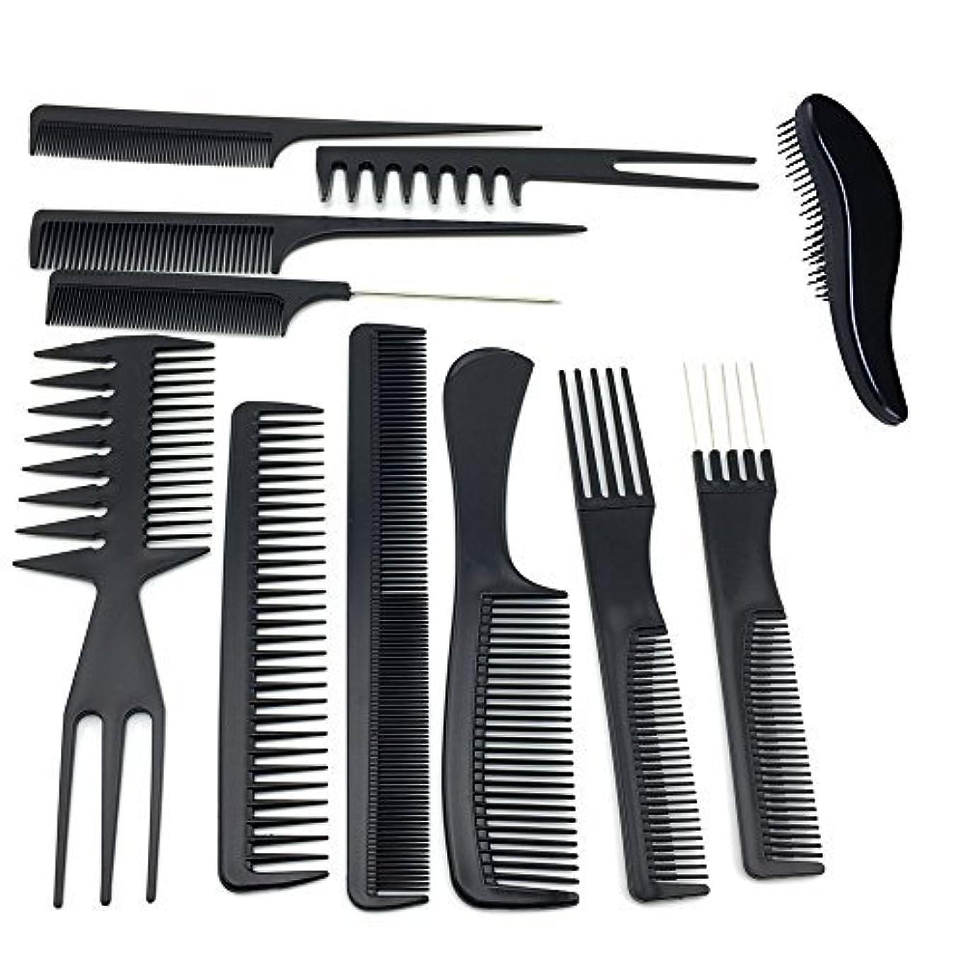 バンジョー皮肉な上向きTraderPlus 11PCS Hair Stylists Professional Styling Comb Set Variety Pack for All Hair Types [並行輸入品]