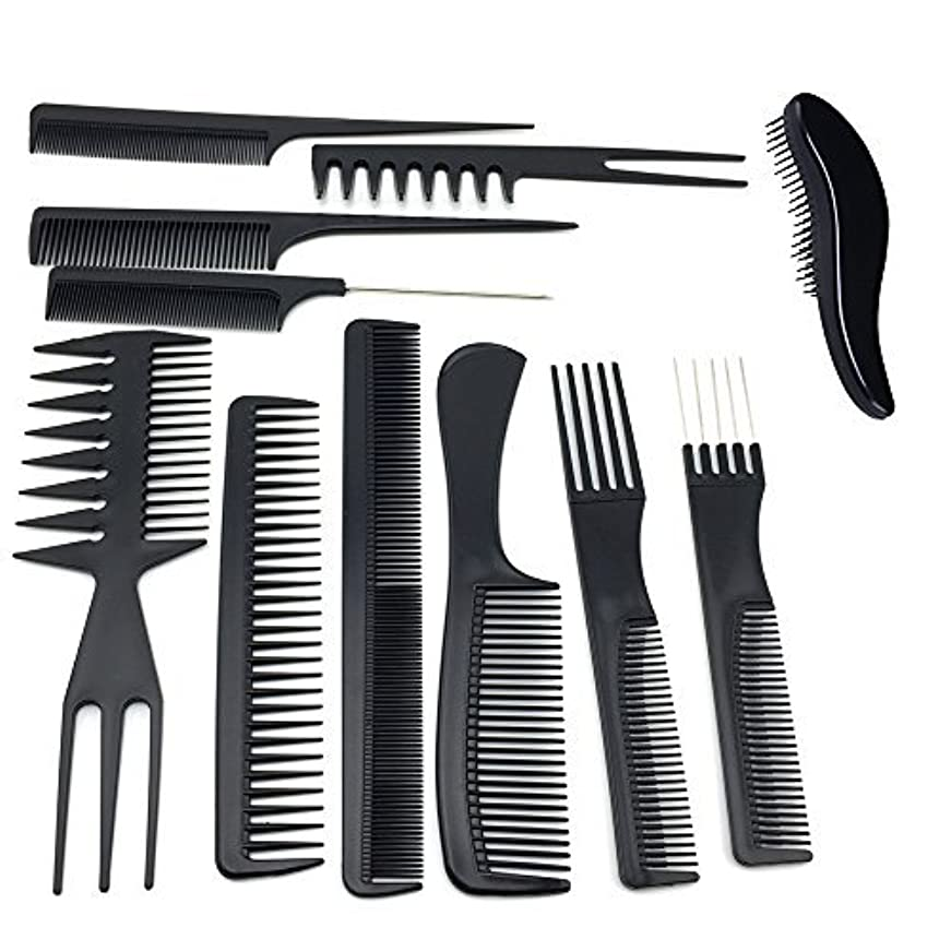 うんコンテンポラリー神経衰弱TraderPlus 11PCS Hair Stylists Professional Styling Comb Set Variety Pack for All Hair Types [並行輸入品]