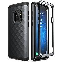 Clayco Galaxy S9 ケース フロントバンパー付き全面保護 ギャラクシーS9 (2017 Release) (s9 hera, black)